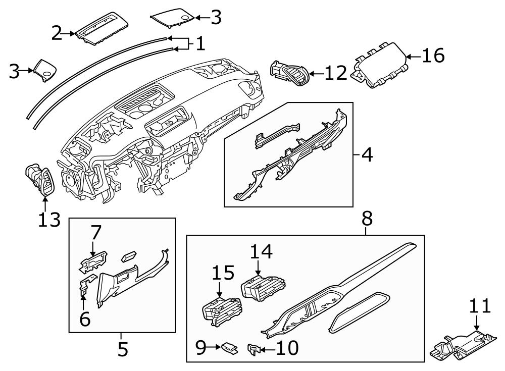 2015 mazda 3 parts diagram dash