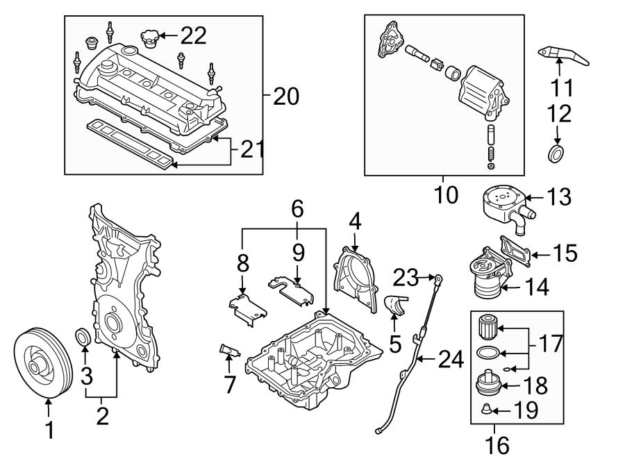 Mazda 3 Engine Valve Cover Gasket  2 3 Liter  2 3l W  Turbo