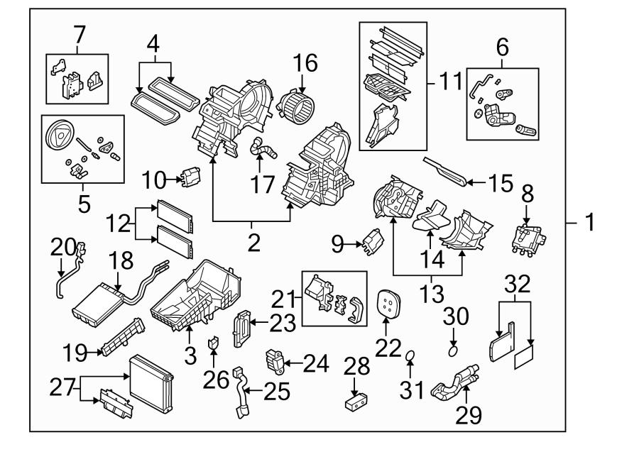 mazda 3 hvac blend door actuator temperature auto. Black Bedroom Furniture Sets. Home Design Ideas