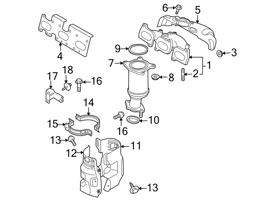 mazda cx-9 bolt  3 7 liter  front  3 7 liter  rear  front  rear