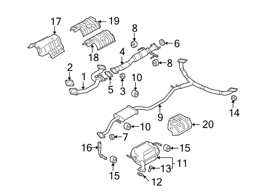 Mazda Cx-9 Exhaust Pipe  Rear   Cx-9