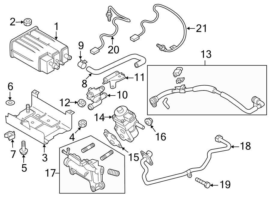 Mazda 3 Vapor Canister Purge Solenoid  Emission  Control  Make