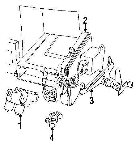 1994    Mazda    Abs modulator 199192 2 wheel abs Bseries
