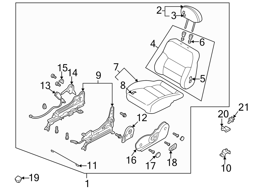 GD7A8813029     Mazda    Seat Back Assembly  Right  Front  199899  MANUAL  DX  gray      Mazda    Online