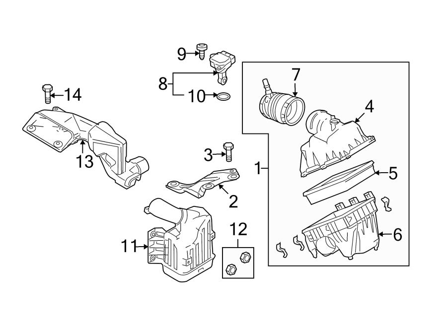Mazda 6 Engine Air Intake Hose  2 5 Liter  Transaxle
