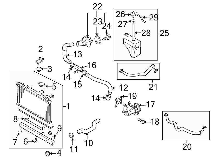 Mazda Cx-7 Radiator Drain Plug  2 3 Liter  2 5 Liter  W  Turobcharger