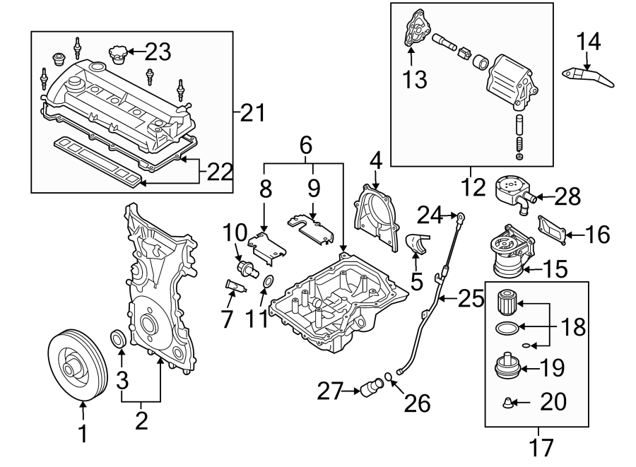 Mazda Cx-7 Oil  Filter  Engine  Gasket  Housing  Liter  Transaxle  Trans