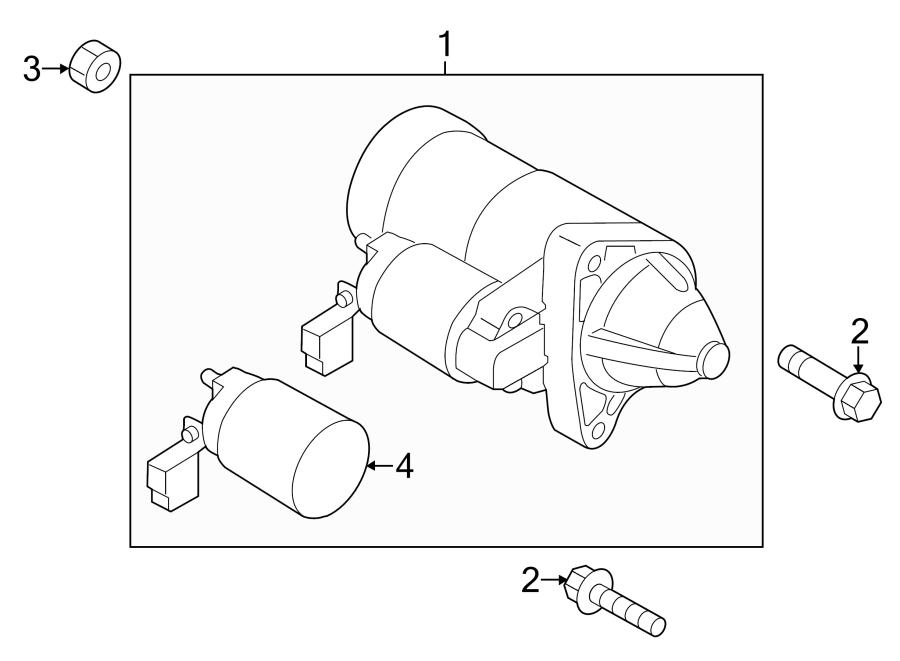 Mazda Cx-5 Starter Motor  Skyactiv  Engine