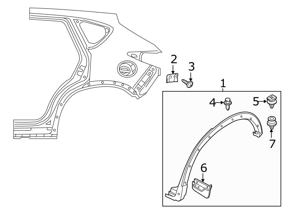 mazda cx 9 exterior trim diagram