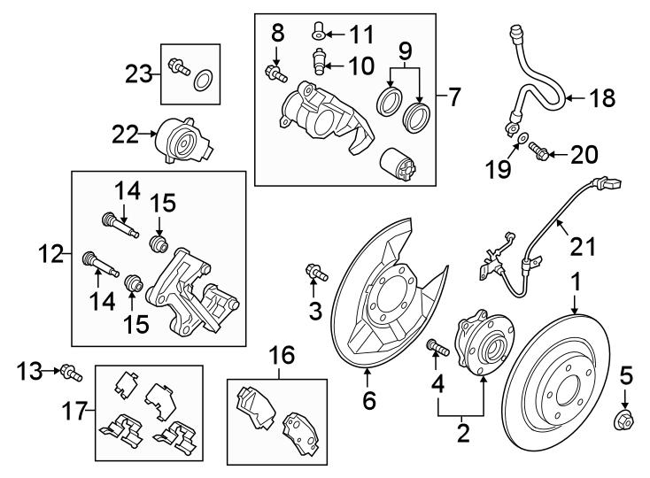 Miata Brake Pads >> Mazda CX-5 Disc Brake Pad Set (Rear) - KAY02648Z | Mazda Online Parts, Orland Park IL