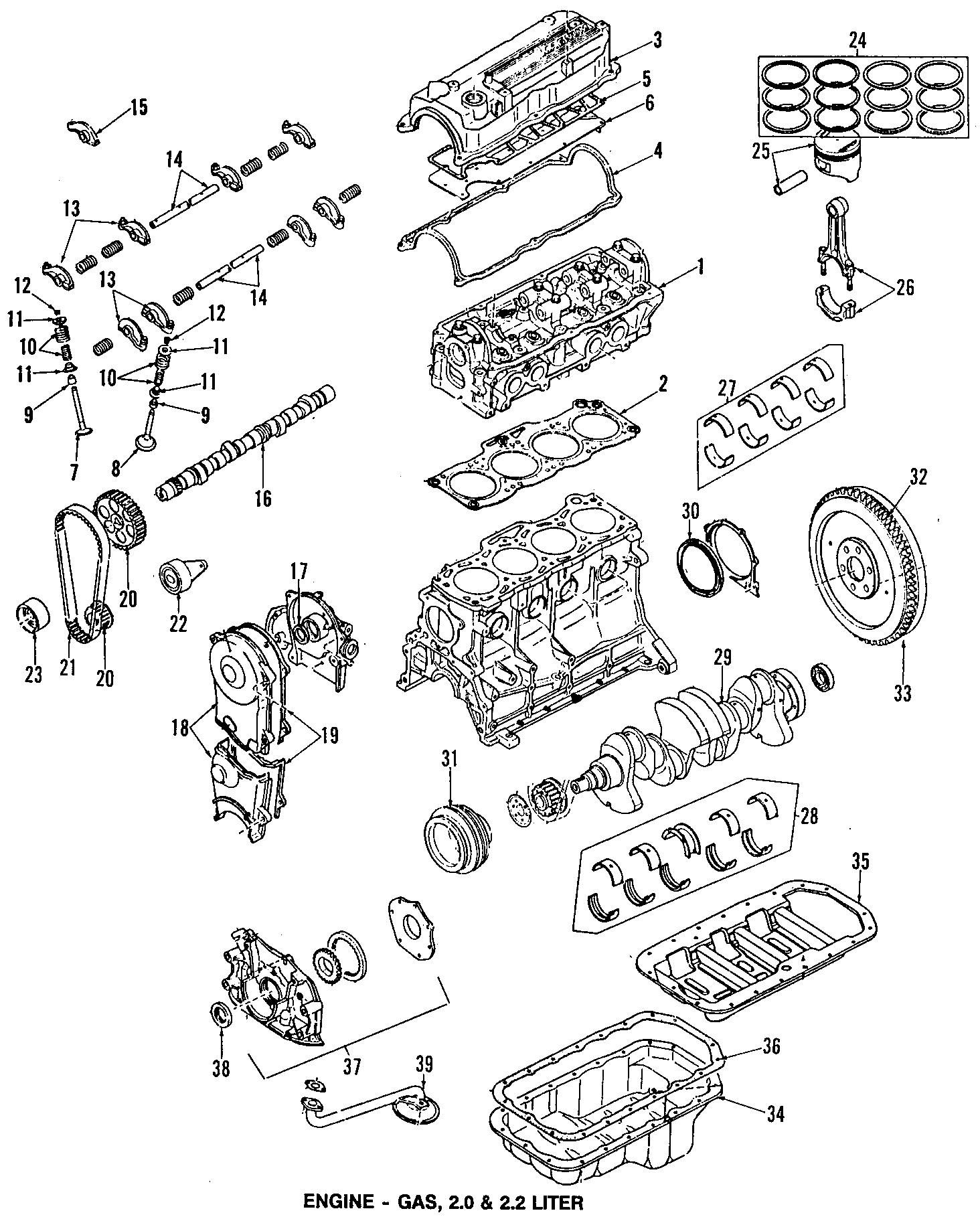 1989 Mazda B2200 Engine Timing Crankshaft Sprocket  626