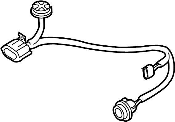 mazda cx-9 headlight wiring harness  halogen  cord  front