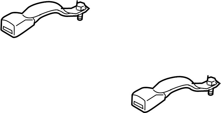 mazda cx-9 buckle  seat belt receptacle  black  rear
