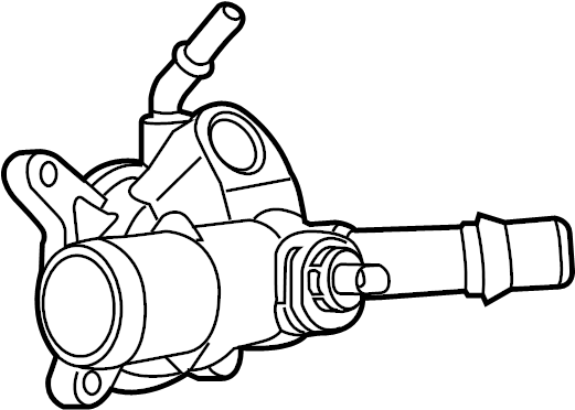 1991 mazda b2200 engine coolant thermostat housing